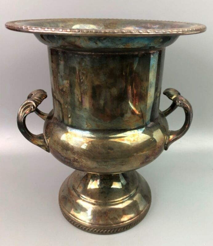 Vintage EB ROGERS Silver Plated Ornate Urn Champagne Wine Bucket