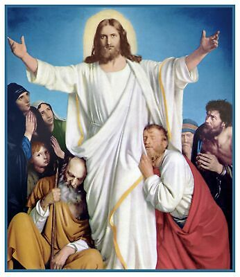Carl Bloch's Jesus Christ The Consolidator Counted Cross Stitch Chart Pattern