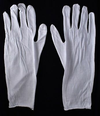 12 Pairs Mens White Industrial Gloves 100 Cotton One Size Lightweight New