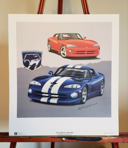 "1994 Dodge Viper GTS / Roadster Poster Artist Print New Old Stock 15"" x 16-1/2"""