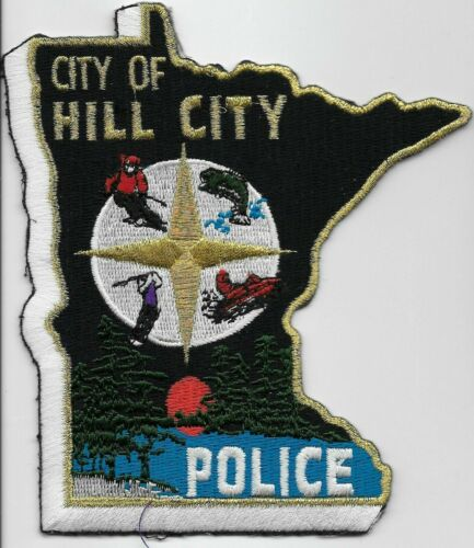 Colorful State Shape Hill CityPolice State Minnesota MN