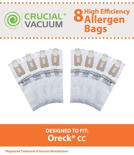 8 Replacements Oreck Vacuum CC Bags Part # CCPK8 & CCPK8DW