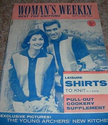 Vintage Womans Weekly Best For Knitting Magazine 4th August 1962