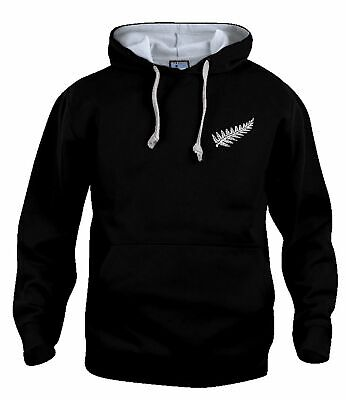 New Zealand National Rugby Hoodie Sizes S-XXXL Embroidered Logo