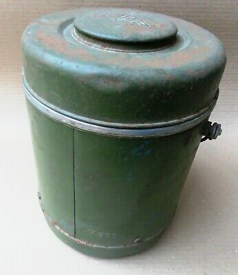 1960 Eagle Brand JAPAN- Flask Vacuum Thermos Green Scrape Color RUSTIC  for sale  Shipping to United States