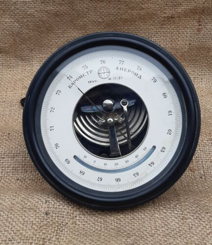 "Military Rare Marine Barometer ""Aneroid"" USSR 1941"