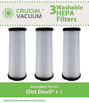 - 3 Replacement Dirt Devil F1 Filters Part # 3-JC0280-000 2-JC0280-000 3JC0280000