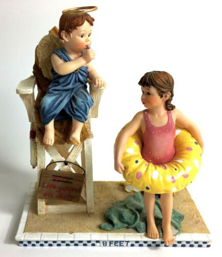 "Bill Stross Demdaco Prayers & Promises Figurine, ""The Lifeguard"" w/ Original Box"
