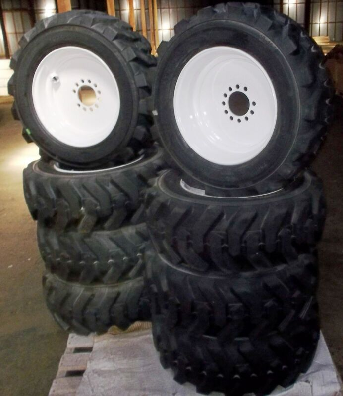 10-16.5 Qty 17 Solideal Xtra-wall Pneumatic With Rim Skid Steer Or Loader Tire