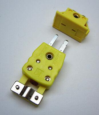 Panel Mount K-type Thermocouple Miniature Socket Strain Relieve Plug Connector C