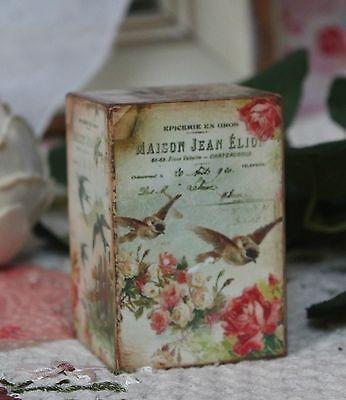 ~ Victorian Wooden Spring Shelf Block Vintage ~ Spring Birds... ~