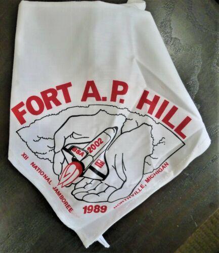 Boy Scouts BSA 1989 12th Jamboree FORT A.P. HILL Northville Mich Neckerchief NOS