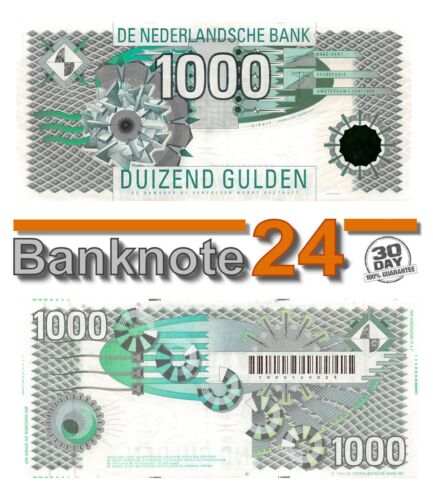 Netherlands 1000 Gulden 1994 Xf lapwing (Kievit)