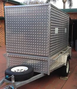 FOR HIRE FOR RENT Aluminium Checker plate Box Trailer Eastlakes Botany Bay Area Preview