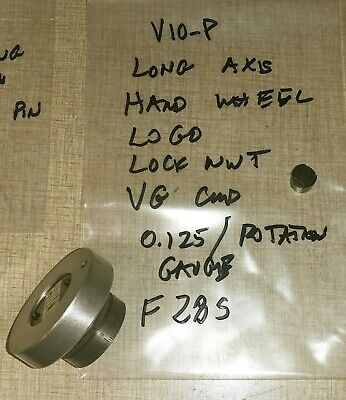 Emco Maximat V10-p Lathe Parts Long Axis Hand Wheel Locknut Logo F28s