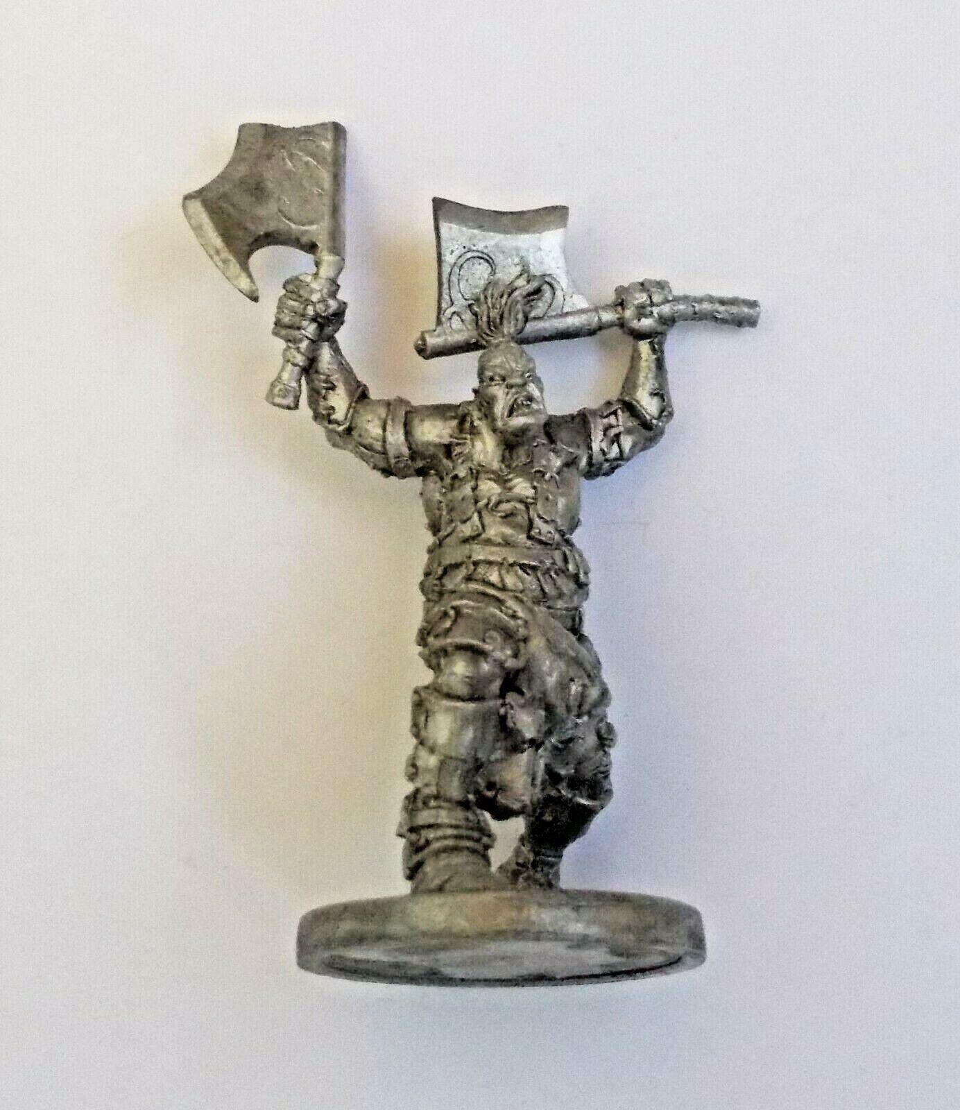 1/40 Fantasy Orc Goblin Warrior Tin Metal Soldier 45 mm Figure handmade NEW