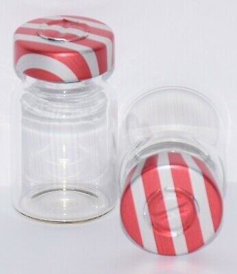 USP 5 mL Clear Sterile Vial with Red Stripe Center Tear Seal 4 Pack