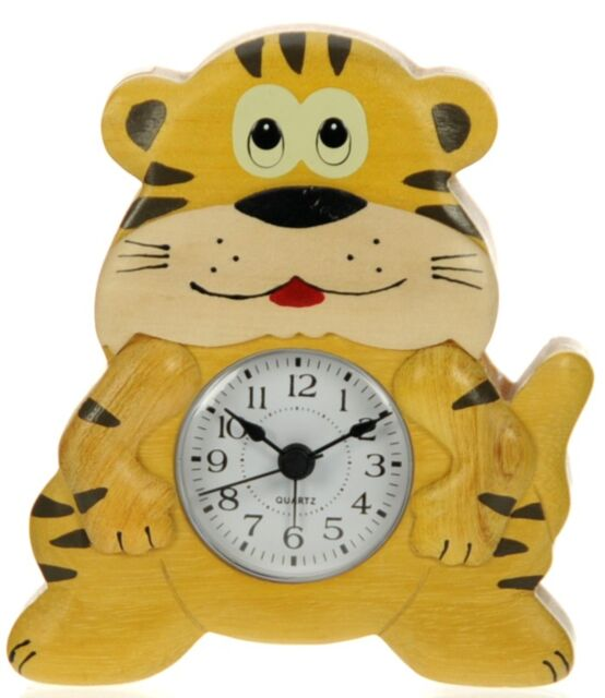 Jungle Tiger Alarm Clock For Boys   Kids Bedroom Bedside   Lean To Tell The  Time