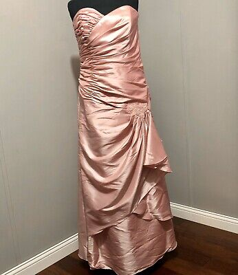 JORDAN CATERINA DRESS 6031 BLUSH IN COLOR SIZE 12 NWT MOTHER OF THE BRIDE Jordan Mother Dress