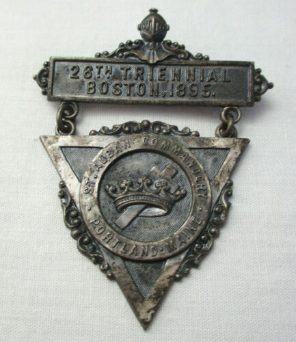 Vintage St. Alban Commandery, Portland Maine 26th Triennial 1895