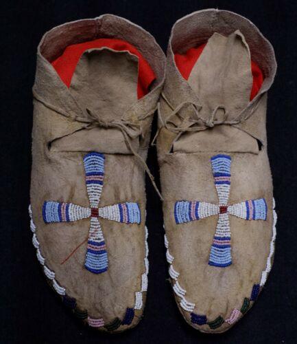 Antique Lakota Mocassins pair - Native American -