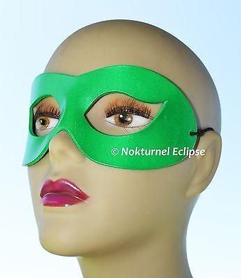 Green Superhero Leather Mask Masquerade Riddler Cosplay Halloween Geek UNISEX - Green Superhero Mask