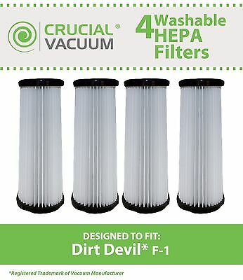 - 4 Replacements Dirt Devil F1 Filters Part # 3-JC0280-000 2-JC0280-000 3JC0280000