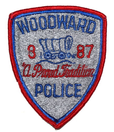 WOODWARD OKLAHOMA OK Police Sheriff Patch COVERED WAGON OLD ~