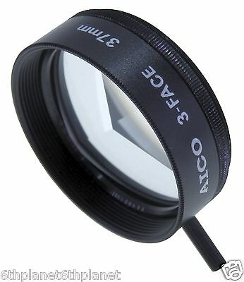 37mm Video Camera 3 Face Circular Mirage Effect Filter