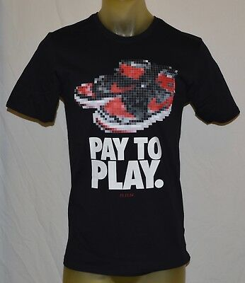 a1580b577a8 NIKE Air Jordan 1 Pay to Play 10 18 84 basketball T-shirt Mens Medium black  M
