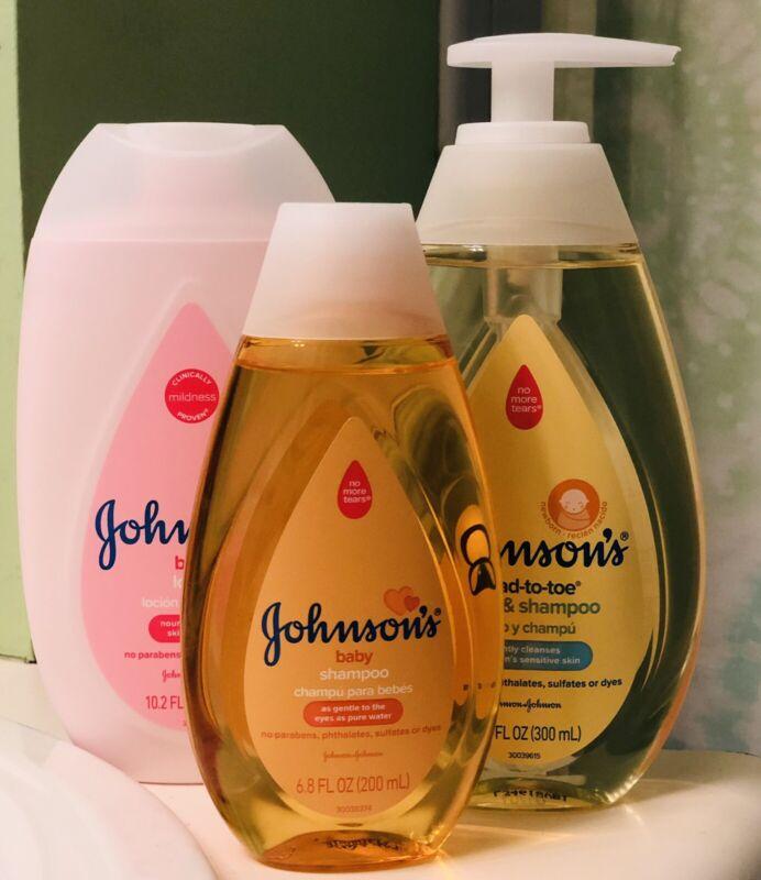 Johnson's Baby Lot Shampoo Lotion Body wash Newborn NEW Dial