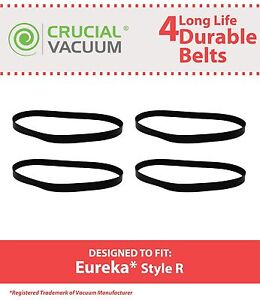 4 Replacements Durable Eureka 4800 SmartVac Series R Belts Part # 61110 & 61110B