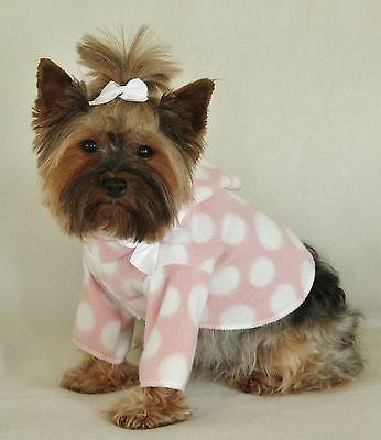 M Pink And White Dots Dog Hoodie Clothes Shirt Pet Apparel Medium Pc Dog®
