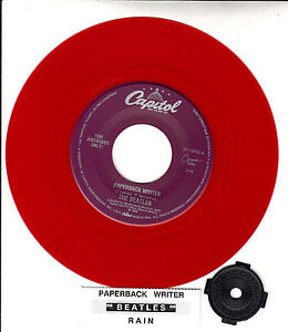 BEATLES-Paperback-Writer-Rain-RED-VINYL-RARE-45-rpm-7-BRAND-NEW-record