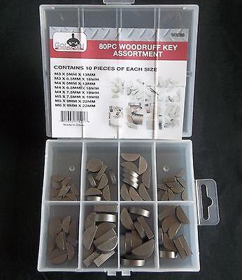 80pc Goliath Industrial Woodruff Key Assortment Wrk80 Flywheel Pulley Crank Way