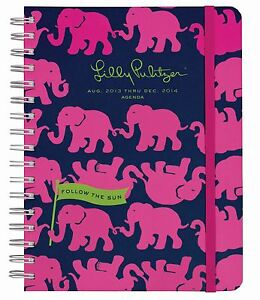 2014-Lilly-Pulitzer-TUSK-IN-SUN-Elephant-Large-Agenda-Datebook-Planner-17-MONTH