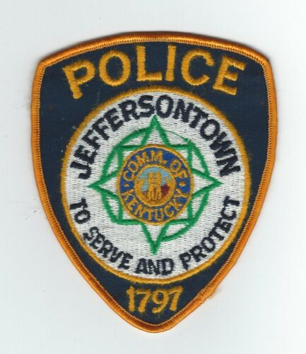 VINTAGE JEFFERSONTOWN, KENTUCKY POLICE (CHEESE CLOTH BACK) patch