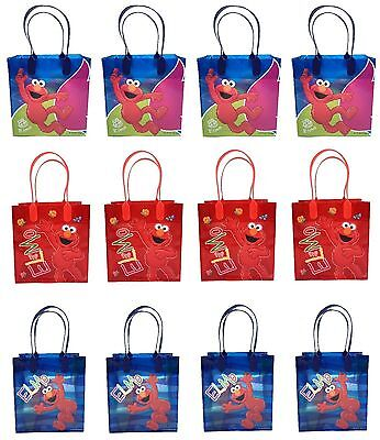Elmo Party (12PCS Sesame Street Elmo Licensed Goodie Party Favor Gift Birthday Loot Bags)
