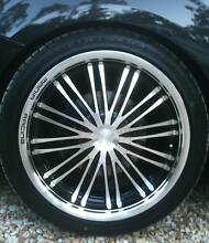 """4 x 18"""" Multi-Stud Mania Racing 'Bellagio' Black and Alloy Rims Norman Park Brisbane South East Preview"""