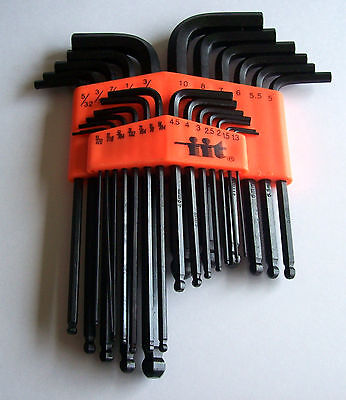 - 25pc ILLINOIS INDUSTRIAL TOOL ALLEN  BALL END  HEX KEY DRIVER WRENCH SOCKET SET