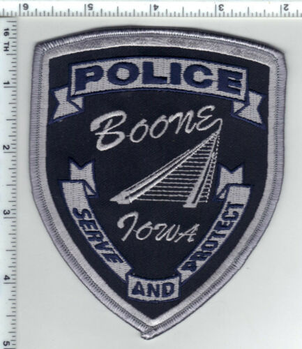 Boone Police (Iowa) subdued Shoulder Patch - new - authorized 1993