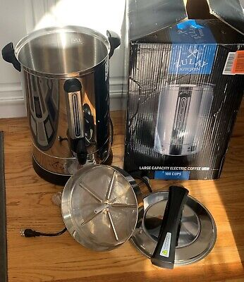 Zulay Kitchen Premium Commercial Stainless Steel 100 Cup Coffee Dispenser Urn