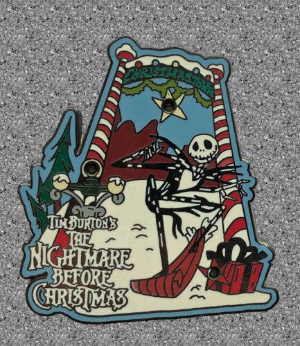 JDS DISNEY Pin Nightmare Before Christmas Jack in Christmastown Light up LE 1400