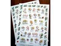 SALE NEW Adorable Morehead Christmas Baby Angels Faith  102 Acid Free Stickers