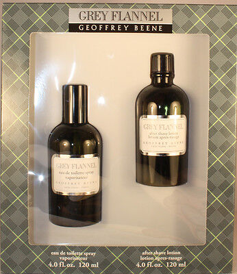 Grey Flannel Gift Set - GREY FLANNEL BY GEOFFREY BEENE 2 PIECES GIFT SET FOR MEN WITH 4.0 OZ EDT SPRAY