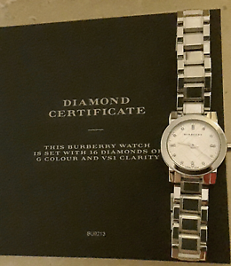 Authentic Burberry Diamond Ladies Watch BU9213 Perth Perth City Area Preview