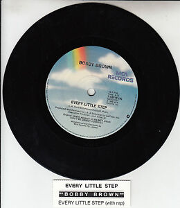 BOBBY-BROWN-Every-Little-Step-7-45-rpm-vinyl-record-juke-box-title-strip