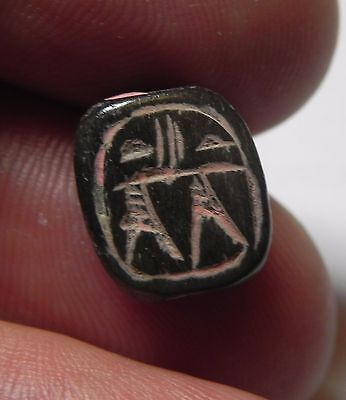 ZURQIEH -AF1013-  HOLY LAND. CANAANITE OR EARLIER STONE SEAL. 1750 - 1550 B.C