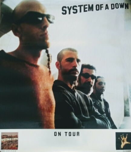 System Of A Down-Tour Promo Poster (2001) TOXICITY (HEAVY METAL)