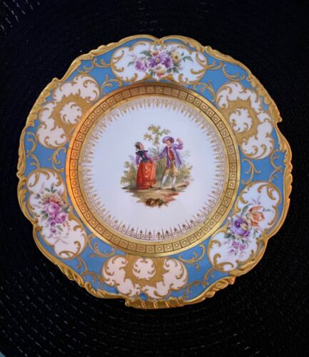 Antique Dresden RK Germany Hand painted Plate1891-1914